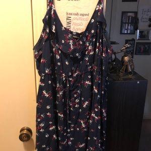 Knee length floral midi dress